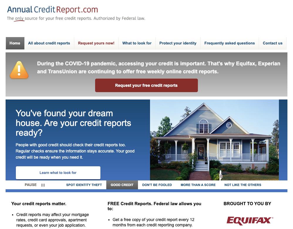 annualcreditreport.com get free credit report